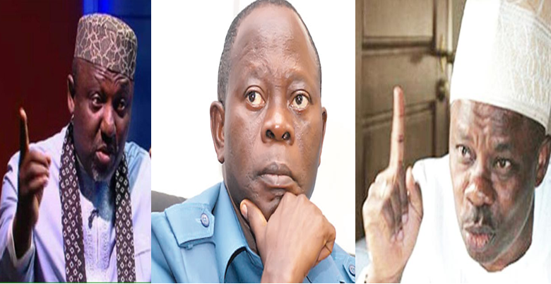 Image result for okorocha, amosun attacking oshiomhole