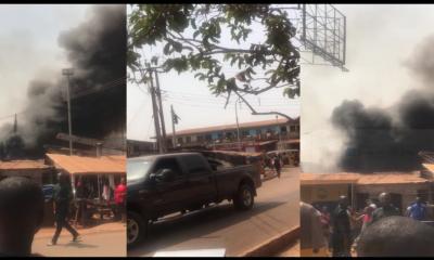 Fire incident in Enugu State